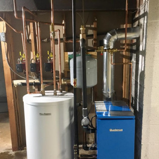 Buderus Indirect Water Heater & Boiler Install